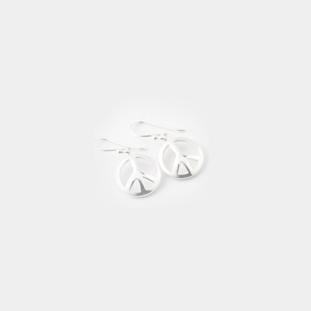 Sterling Silver Peace Earings