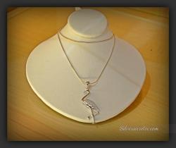 Sterling Silver Pendant Crane Bird